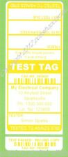 1000 CUSTOM Yellow Printed Electrical Adhesive Test Tag Labels