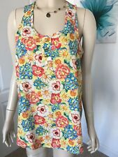 NEW LOOK SIZE 8 GORGEOUS FLORAL SUMMER TOP IN EXCELLENT CONDITION