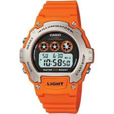 Casio Digital Watch Illuminator Orange Resin Strap