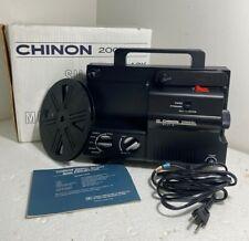 Chinon 2000 GL Black Silent Dual 8 Movie Projector