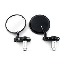 1 Pair Mirror Fueler Handlebar Mounted Mirror, Black, for Harley Davidson