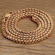 23.5 '' Decent  Men 9K Gold Filled Vogue Box Chain Necklaces X0029