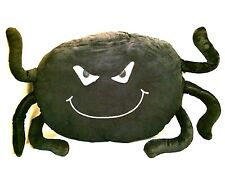 Black Spider Soft Pillow Halloween Decoration Spooky Scary Furry Fun Large