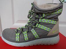 Nike Roshe Run Hi Sneakerboot Print Womens Gray SNEAKERS Shoes Size UK 4