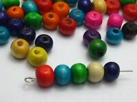 """500 Mixed Color 8mm(0.31"""") Round Wood Beads~Wooden Beads"""
