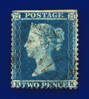 1855 SG34 2d Blue Plate 5 F6(1) KK Shifnal Good Used Cat £70 cviu