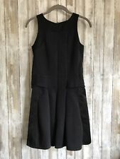$385 The Kooples Neoprene Jersey Little Black Dress Zipper Detail 36 XS S *
