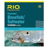 Rio Bonefish/Saltwater Fluorocarbon Leader 9 ft .014in 16lb - Fly Fishing