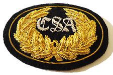 American Civil War ACW confederado oficiales pequeña placa insignia Kepi 7x5cms