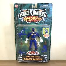 Rare Bandai Saban?s Power Rangers Wild Force- Blue Wild Force Power Ranger 2002