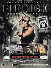 The Chronicles Of Riddick 2004 Rittenhouse Archives Promotional Sell Sale Sheet