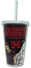 **License Cup** Deadman Wonderland Ganta & Shiro Tumbler Mug w Straw Lid #69127