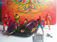 SECRET WARS Vintage Spider-Man Marvel Comics Action Figure Lot Doom Cycle & more