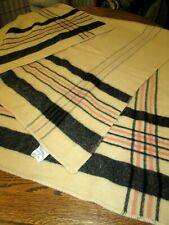 Montgomery Ward Vintage FleecyDown Wool Plaid Camp Blanket bed cover~super soft!