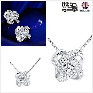 UK CZ Sterling Silver Jewellery Set