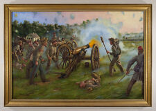 Original Maritato Signed Oil Painting Civil War Art Thunder at Dawn Confederate