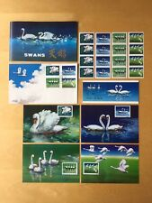 1983 China Stamps T83 Swans MNH Strips, Booklet, FDC, Postcards Set (see desc)