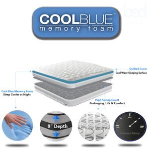 Memory Foam Matress Sprung Mattress 3ft Single 4ft6 Double 5ft King beds