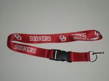 NCAA Brand New Lanyard Keychain Oklahoma Sooners ID Holder