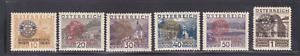 """Austria semipostal """"Rotary"""" set, B87 - B92, mint hinged"""