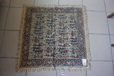 C113 Authentique tapis 80/80 moyen orient a dentelles