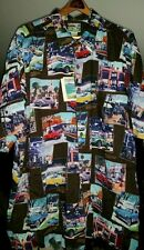 Vintage Reyn Spooner FORD MOTOR & Classic Cars HAWAII Rayon Hawaiian Shirt XL