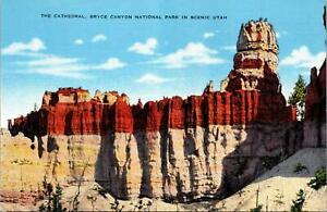 Cathedral Bryce Canyon National Park in Scenic Utah Postcard unused 1930s/40s