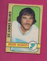 1972-73 OPC # 234 BLUES BRENT HUGHES  HIGH # EX-MT CARD (INV#2187)
