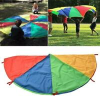 Kids Play Rainbow Parachute Outdoor Exercise Game Sport 2-4M Toy Quality Hi I3H1