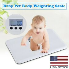 Lcd Digital Electronic Low Battery/Lock Alarm Baby Pet Body Weighting Scale Usa