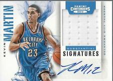 2012-13 Contenders Substantial Signatures Mat #20 Kevin Martin Auto Jersey /99