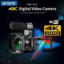 ORDRO AC3 4K WiFi Digital Video Camera 24MP 30X Zoom IR DV Camcorder + Mic C0X2