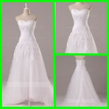 Lace Regular Size Tulle Wedding Dresses