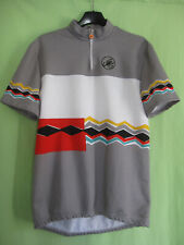 Maillot Cycliste gris Castelli vintage 80'S Jersey Cycling Shirt - 5 / XL