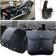 2PCS Motorcycle PU Leather Saddle Bag Storage Tool Pouch Waterproof Top Quality
