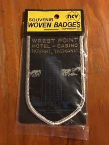 NCV Souvenir cloth woven Badges - Wrest Point Hotel - Casino Hobart Tasmania
