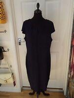 Animal Print Dress by F&F Blue/Black Leopard Print Stretchy Classic UK Size 22