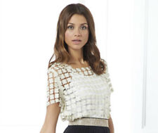 NEW - PRETTY CLOVER CROCHET TOP COL: CHAMPAGNE - UK SIZE 20 - by B.YOU - BNWT
