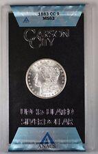 1883-CC GSA Hoard Morgan Silver Dollar $1 Coin ANACS MS-63 (Better Coin) (1P)