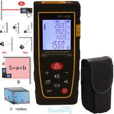 100M/328Ft Digital Lcd Laser Distance Meter Range Finder Measure Diastimeter Usa