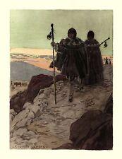 Auguste LEROUX . les pèlerins en route pour Saint Jacques de Compostelle !