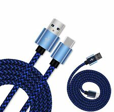 Blue Braided Micro USB 3.1 Sync Charger Cable Lead For Motorola Moto Z Z5 Force