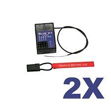 2X BLACK-SR3100 3Ch. Racing Empfänger für Spektrum DSM2,DX3C DX4S usw.  G-153 m2