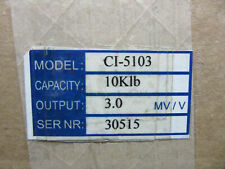 Coti Ci-5103 Load Cell 10,000 Capacity Output 3.00 80Mv/V New!