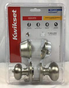Kwikset 690 Cove Door Knob Kit Keyed Entry Single Cylinder Deadbolt ~ NIP