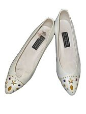 Stuart Weitzman Mr Sey Brilliant Pearl Leather Colorful Studded Pumps Size 7