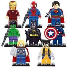 8 Pcs Mini Figures Marvel Avengers Hulk Batman Super Hero Minifigure fit lego