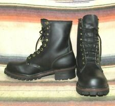 Mens Vintage Walker Black Leather Lace Up Work Hiking Boot 8.5 D NEW