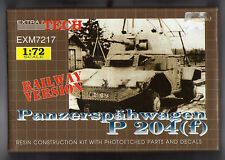 Panzerspähwagen P 204 F Panhard AMD 178 railway version 1/72 Extra Tech