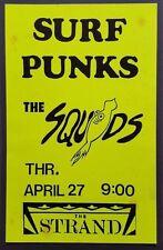 SURF PUNKS Original Boxing Style Concert Poster 1989 kbd BEACH BOYS BLACK FLAG